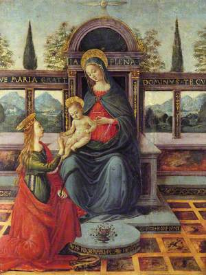 Madonna and Child Enthroned with Saint Catherine