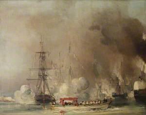 The Departure from Tréport of Queen Victoria, 7 September 1843