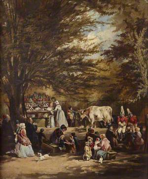 A Milk Stall in St James's Park, London