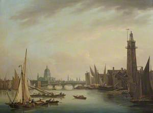 The Thames with St Paul's Cathedral, London