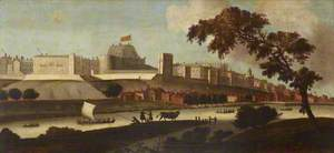 View of Windsor Castle from the River as It Was in the Reign of King James I