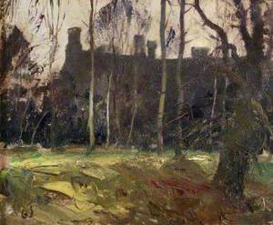 North Front of Anglesey Abbey Seen through the Trees
