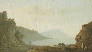 A Rocky Bay with Figures