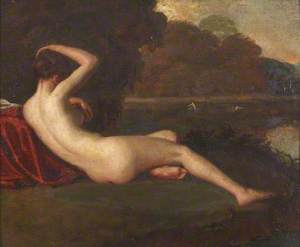 A Female Nude by a Lake