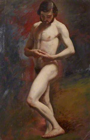 Academic Study of a Male Nude Standing