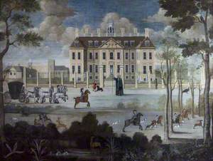 View of the South Aspect of Belton House, Lincolnshire, with the House Porter