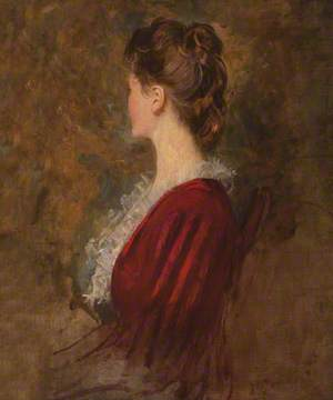 Portrait of an Unknown Lady in Lost Profile