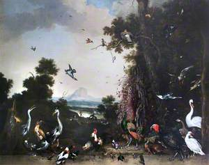 Open Landscape with Poultry and Waterfowl