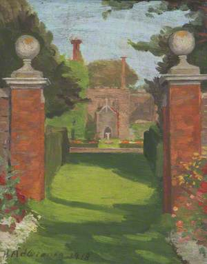 Belton Church, Seen through the Gates, 1819