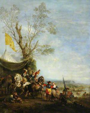 Cavaliers at an Encampment