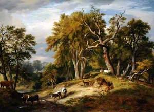 Cattle and Deer in Calke Park