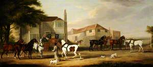 Changing Horses, the Exeter to London Mail; Sir Henry Paton, Bt, Leading the Horse