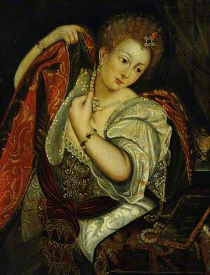 A Venetian Courtesan at Her Dressing Table