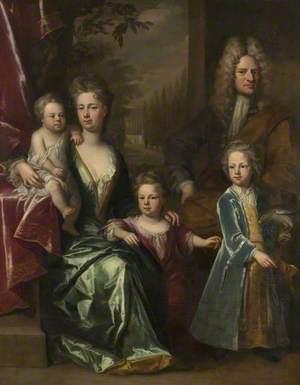 The Dryden Family: Edward Dryden (d.1717), His Wife, Elizabeth Allen and Their Children, John Dryden (c.1704–1770), Later Sir John Dryden, 7th Bt; Bevill Dryden (d.1758); and Mary Dryden, Later Mrs Allen Puleston