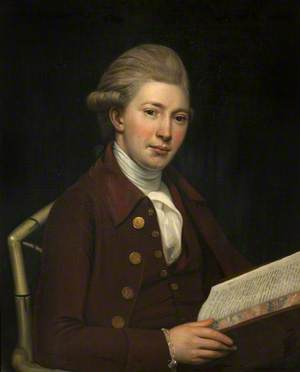 Portrait of an Unknown Young Man Holding a Book