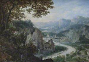 A View on the Meuse with Miners