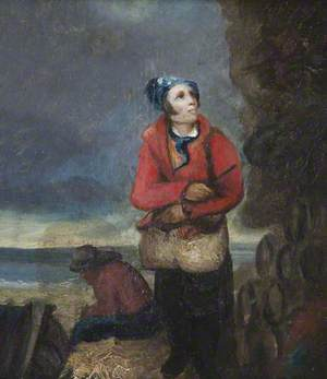 Two Fishermen by the Seashore