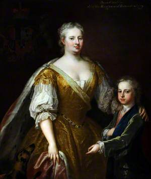 Caroline of Brandenburg-Ansbach (1683–1737), and Her Son Prince William Augustus (1721–1765), Duke of Cumberland