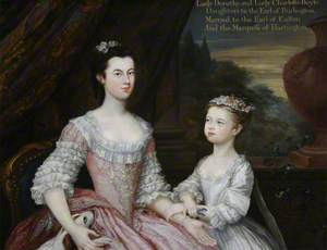 Lady Dorothy Boyle (1724–1742), Countess of Euston, and Her Sister Lady Charlotte Boyle (1731–1754), Later Marchioness of Hartington