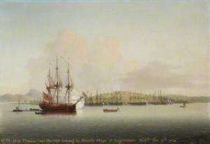 Captain Augustus John Hervey (1724–1779), Later 3rd Earl of Bristol, in the 'Phoenix', Taking 14 French Ships at Argentiera, 9 November 1756