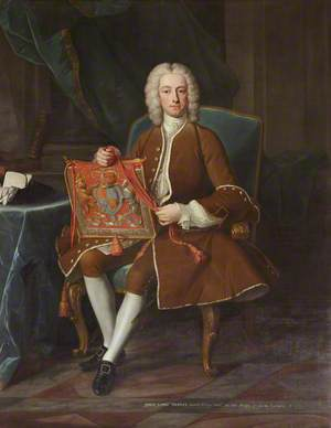 Lord John Hervey (1696–1743), 2nd Baron Hervey of Ickworth, PC, MP, Holding His Purse of Office as Lord Privy Seal