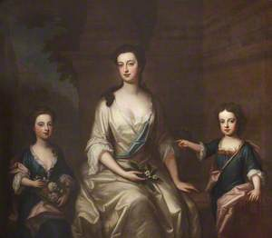 Elizabeth Felton (1676–1741), Countess of Bristol, with Her Children Lady Henrietta Hervey (1703–1712), and Her Twin Brother Lord Charles Hervey (1703–1786)