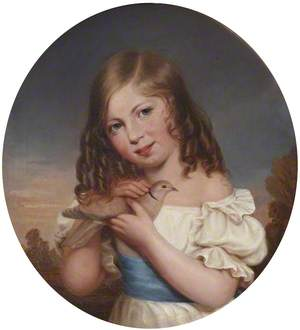 Lord Augustus Henry Charles Hervey (1837–1875), as a Child, Holding a Dove