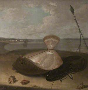 Turbot, Lobster and Sea Shells, in the Thames Estuary (?)