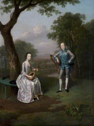 Sir Nathaniel (1726–1804), and Lady Caroline Curzon (1733–1812)