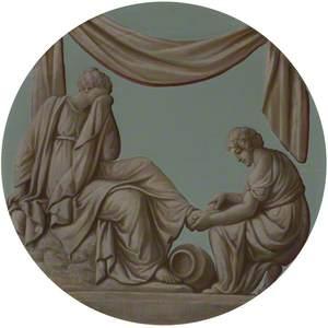A (Grecian/Roman) Wedding: Washing the Feet (Alcestis Preparing to Die)