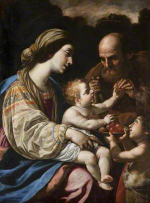 Holy Family with Saint John Offering Fruit