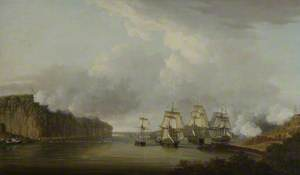 Forcing the Boom on the Hudson River, 9 October 1776