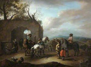 Landscape with a Riding School