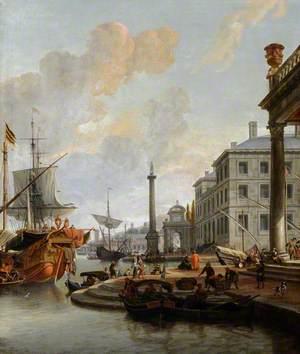 Capriccio View of a Seaport