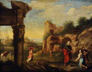 Italianate Landscape with Elijah and the Widow of Sarepta