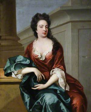 Portrait of an Unknown Lady in an Architectural Setting