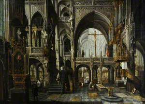 Interior of the Church of Saint Peter at Louvain