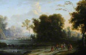 Wooded Landscape with Peasants Music-Making and Dancing