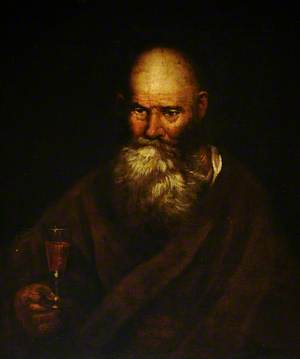 A Bearded Man with a Wine Glass