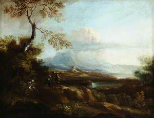 Mountainous Italianate Landscape with Figures