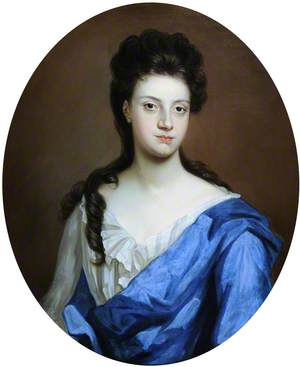 Portrait of an Unknown Lady in a Blue Mantle