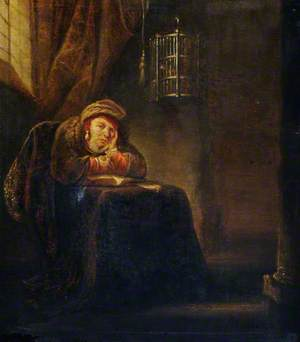 A Scholar Seated at a Table