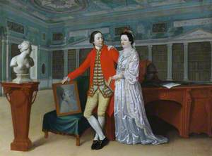 Sir Rowland Winn (1739–1785), 5th Bt, and His Wife Sabine Louise d'Hervart (1734–1798), in the Library at Nostell Priory