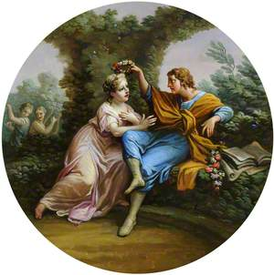 Daphnis Bestowing a Garland of Flowers on Chloe