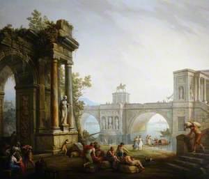 Capriccio with the Ruins of a Triumphal Arch and a Bridge