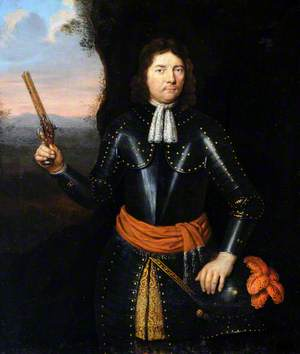 Portrait of an Unknown Gentleman in Armour, with a Pistol