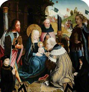 The Adoration of the Magi with Donors