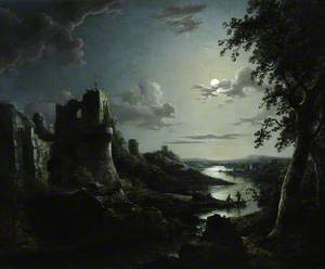 View of Pendragon Castle by Moonlight
