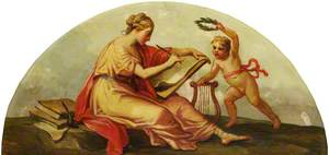 Putto with a Personification of Drawing