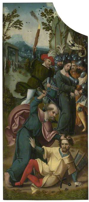 The Oxburgh Retable: The Arrest of Christ with Saint Peter Cutting off Malchus's Ear